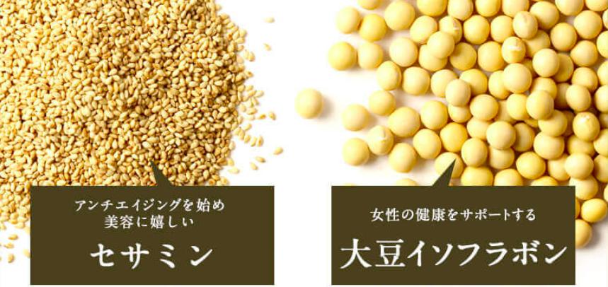 セサミンと大豆イソフラボン